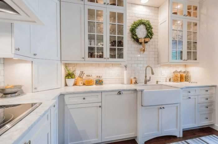 Белая кухня: особенности использования белого цвета, выбор стиля интерьера. Идеи модного дизайна кухни с фото лучших примеров