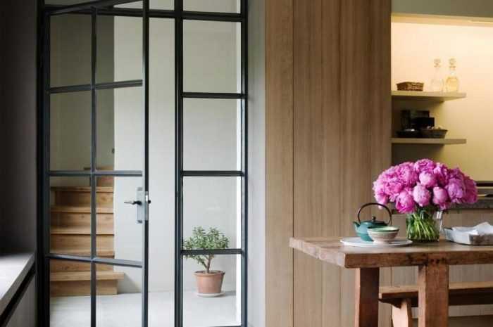 Двери для кухни — обзоры видов кухонных дверей. Разновидности материалов изготовления. Идеи оформления с фото-примерами