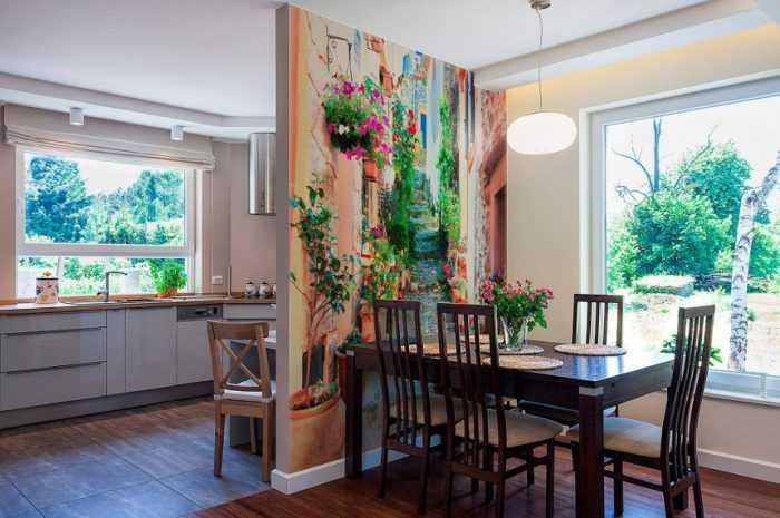 Фотообои для кухни — ТОП-170 фото новинок дизайна обоев. Виды материалов, варианты современных картинок для кухни