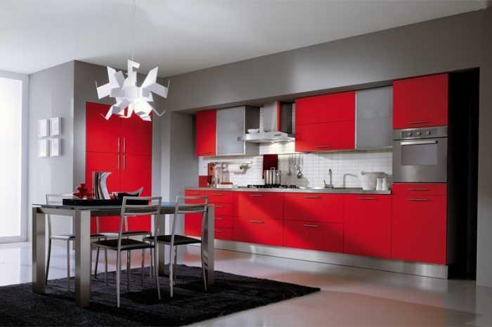 Красная кухня — ТОП-100 фото-обзоров вариантов дизайна и декора кухни. Стильные комбинации красного цвета в интерьере