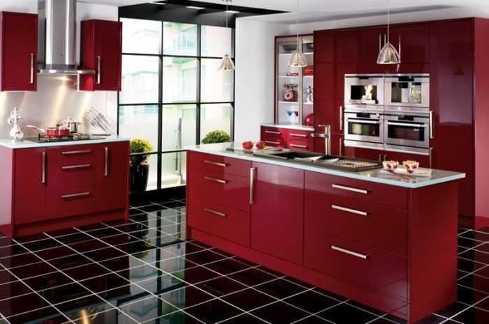 Кухни бордового цвета: ТОП-170 фото стильных примеров дизайна кухни бордового цвета + обзоры современных интерьеров