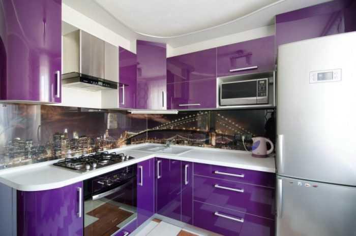 Кухня фиолетового цвета — нюансы использования фиолетового цвета. Идеи дизайна современной кухни с фото-примерами