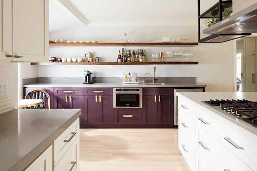 Кухня сиреневого цвета — особенности сиреневых оттенков в интерьере. Идеи дизайна стильной кухни с фото-примерами
