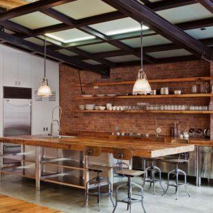 Кухня в стиле лофт: ТОП-180 фото оформления кухни в стиле лофт, особенности дизайна стиля с примерами интерьеров