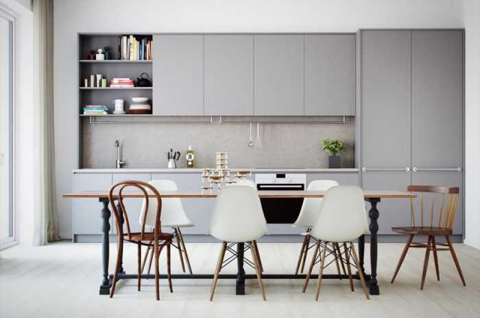 Кухня в стиле минимализм: новинки дизайна минималистической кухни. Выбор цветов, мебели и дополнительного декора + 120 фото