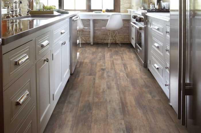Ламинат на кухню: ТОП-130 фото идей покрытия, плюсы и минусы ламината. Выбор цветовой гаммы пола на кухне