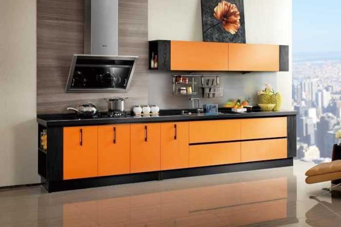 Оранжевая кухня — плюсы и минусы оранжевых тонов. Рекомендации по стильному дизайну кухни с фото-обзорами