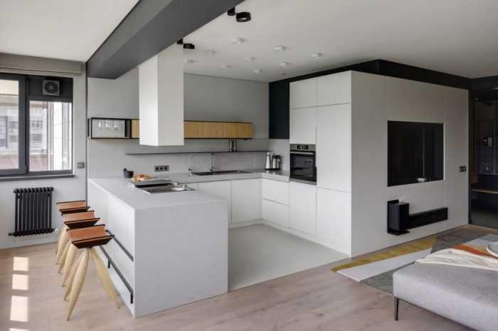 П-образная кухня — ТОП-100 фото идей планировки и зонирования кухни. Обзоры новинок оформления и современного декора