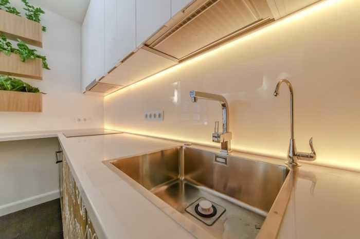 Подсветка рабочей зоны на кухне: ТОП-130 вариантов оформления. Правила выбора и монтажа подсветки в фото-обзорах