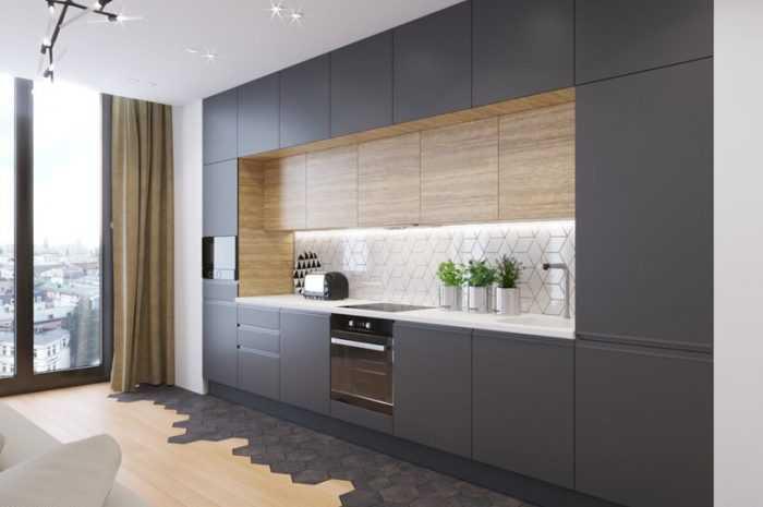 Прямые кухни — 160 фото вариантов оформления прямой кухни. Идеи зонирования, планировки и дизайна интерьера