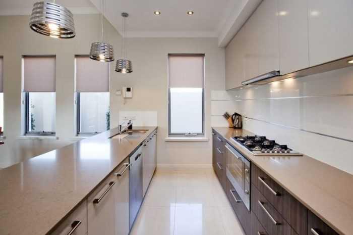 Узкая кухня — ТОП-150 фото идей планировки и зонирования кухни. Обзоры новинок оформления и современного декора