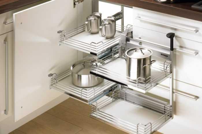 Выдвижные системы для кухни: идеи и новинки дизайна. Виды расположения и конструкций, особенности выбора (170 фото)