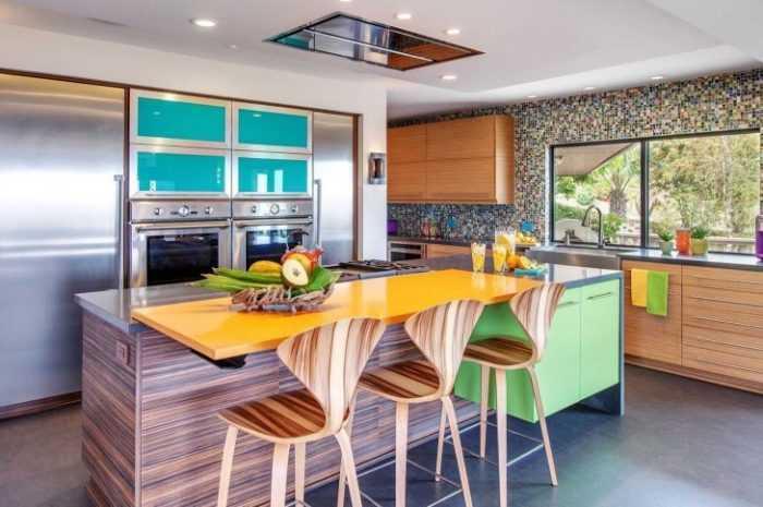 Яркая кухня: ТОП-140 фото современного оформления. Особенности дизайна и выбор ярких цветов для кухни