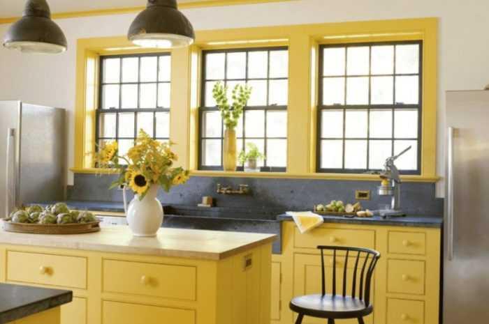 Желтая кухня — особенности использования желтых тонов на кухне. Новинки дизайна современной кухни с фото-обзорами